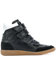 Isabel Marant Bilsy High Top Sneakers Calf Leather Pig Leather Rubber Black