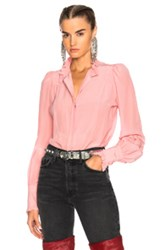 Isabel Marant Sloan Blouse In Pink