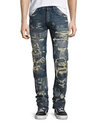 Prps Super Distressed Rip Repair Denim Jeans Indigo