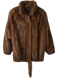 Krizia Vintage Mink Fur Coat Brown