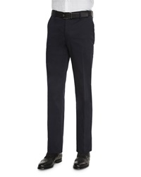 Etro Cotton Stretch Dress Trousers Navy