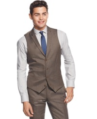 Bar Iii Olive Multi Check Slim Fit Vest Only At Macy's