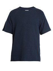 Fanmail Organic Cotton Crew Neck T Shirt Navy