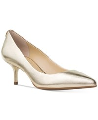 Michael Kors Mk Flex Kitten Heel Pumps Women's Shoes Pale Gold