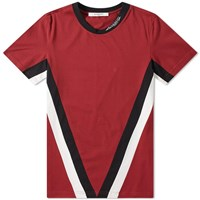 Givenchy V Band Logo Collar Tee Red