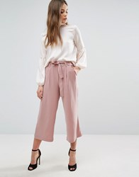 New Look Tie Waist Culottes Pink