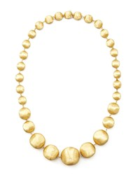 Africa Gold Medium Bead Necklace 18'L Marco Bicego Brown
