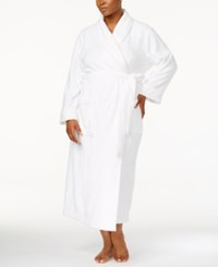 Charter Club Plus Size Long Cable Knit Cotton Robe Created For Macy's Angel White