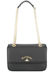 Vivienne Westwood Anglomania Orb Logo Shoulder Bag Black