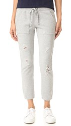 Pam And Gela Destroyed Sweatpants Heather Grey