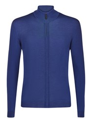 Aquascutum London Tomkis Merino Wool Cardigan Blue