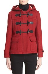 Women's Burberry Brit 'Blackwell' Short Wool Duffle Coat