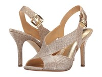 Michael Michael Kors Becky Sandal White Silver Sand Metallic Lurex Women's Dress Sandals