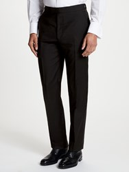Chester Barrie By Wool Mohair Slim Fit Dress Suit Trousers Black