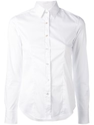 Xacus Lucy Slim Fit Shirt Women Cotton Nylon Spandex Elastane 44 White