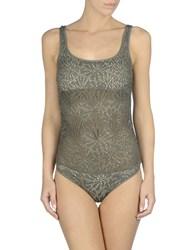 Fisico Cristina Ferrari One Piece Swimsuits Military Green