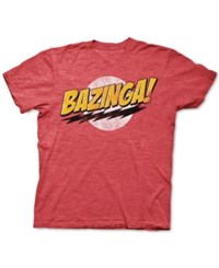 New World Bazinga Graphic T Shirt Red Heather