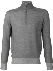 Loro Piana Zip Collar Sweater Grey
