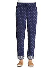 Joie Ferina Silk Printed Track Pants Dark Navy