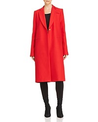 Milly Eva Slim Coat Ruby Red