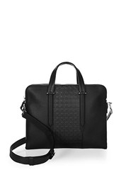 Salvatore Ferragamo Gancio Soft Leather Briefcase Black