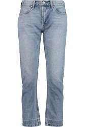 Marc By Marc Jacobs High Rise Cropped Straight Leg Jeans Light Denim