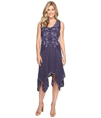 Johnny Was Eyelet Faith Dress W Slip Blue Gravel Women's Dress Gray