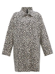 Norma Kamali Leopard Print Single Breasted Coat Leopard