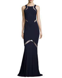 Galvan Angled Sheer Inset Jersey Gown