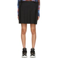 Junya Watanabe Black Extended Side Wool Skirt