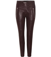 Isabel Marant Arnold Leather Trousers Red