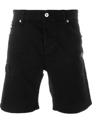 Just Cavalli Distressed Shorts Black