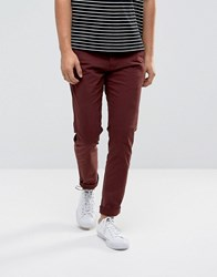 Selected Homme Slim Chino Decadent Chocolate Red