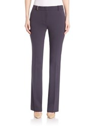 Peserico Flared Leg Stretch Pants Navy