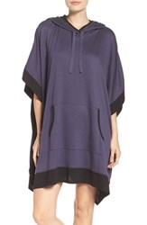 Dkny Women's Sleep Poncho Purple Grey