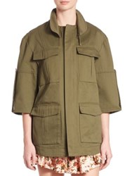 Prose And Poetry Jane Four Pocket Cotton Cargo Jacket Army Cotton Twill