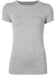 Majestic Filatures Plain T Shirt Women Spandex Elastane Viscose 4 Grey