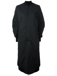 Barbara I Gongini Oversized Zip Up Coat Black