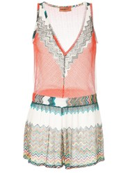 Missoni Sheer Playsuit White
