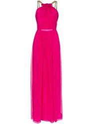 Haney Emeline Chain Strap Maxi Dress Pink