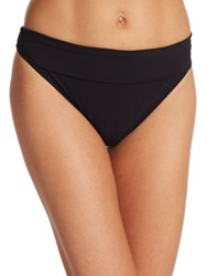 Gottex Swim Tutti Frutti Fold Over Bikini Bottom Black