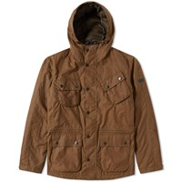 Barbour International V Tech Wax Jacket Brown