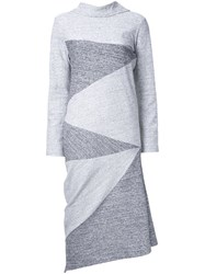 Anrealage Noise Jersey Dress Grey