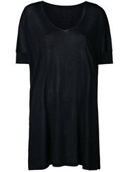 Roberto Collina Loose Fit Knitted T Shirt Black