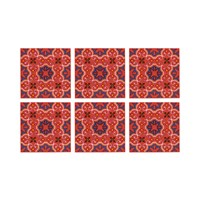 Images D'orient Set Of 6 Coasters Sejjadeh Pink
