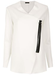 Osklen Asymmetric Coat White
