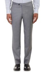 Isaia Twill Gregory Trousers Grey