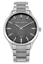 French Connection Men S Bracelet Watch Silver