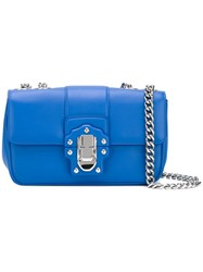 Dolce And Gabbana Lucia Shoulder Bag Women Leather One Size Blue