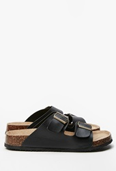 Forever 21 Classic Buckled Sandals Black